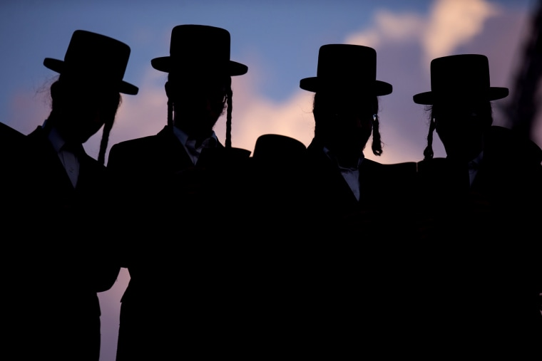 Ultra-Orthodox Jews pray in the city of Ramat Gan near Tel Aviv. (Photo by Jack Guez/AFP/Getty)