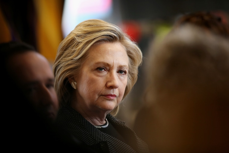 Democratic presidential hopeful and former Secretary of State Hillary Clinton hosts a small business forum with members of the business and lending communities at Bike Tech bicycle shop on May 19, 2015 in Cedar Falls, Ia. (Photo by Scott Olson/Getty)