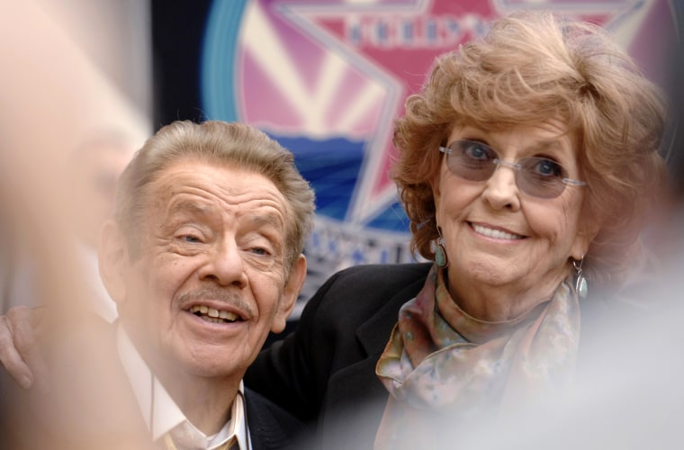 Jerry Stiller and his wife Anne Meara attend a ceremony where the couple is honored with a star on the Hollywood Walk of Fame in Los Angeles, Calif., Feb. 9, 2007. (Photo by Phil McCarten/Reuters)