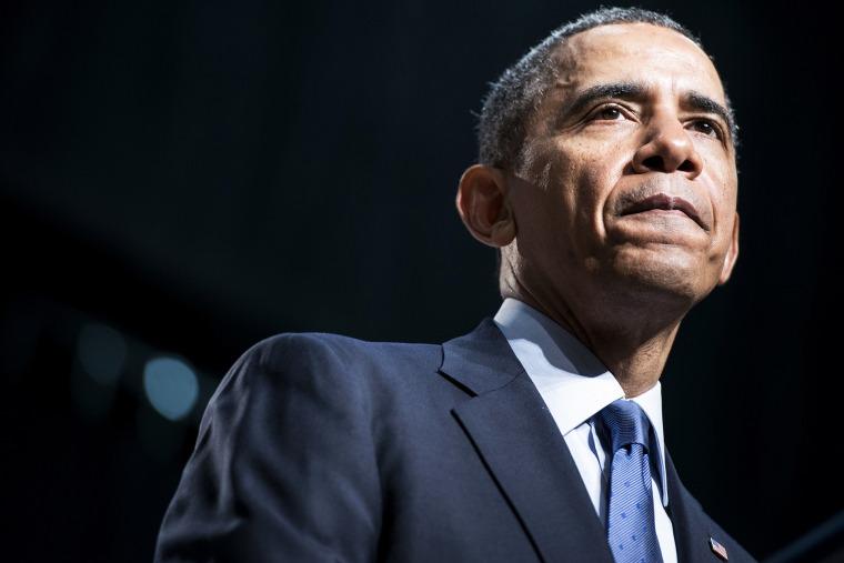 President Barack Obama speaks at an event on April 7, 2014 in Bladensburg, Md. (Photo by Brendan Smialowski/AFP/Getty)
