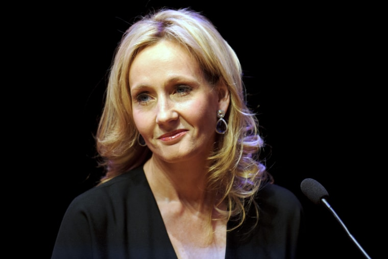 Author J.K. Rowling attends photocall ahead of her reading from 'The Casual Vacancy' at the Queen Elizabeth Hall on Sept. 27, 2012 in London, England. (Photo by Ben Pruchnie/Getty)