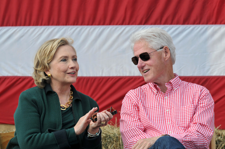 Last year, former President Bill Clinton and his wife former Secretary of State Hillary Rodham Clinton attended the 37th Harkin Steak Fry, Sept. 14, 2014 in Indianola, Iowa.