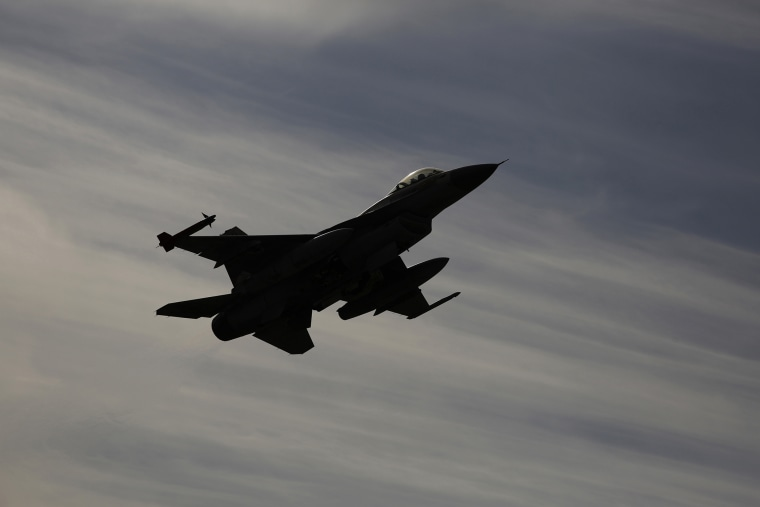 Israeli F-16 fighter jet flies during a drill in Israel. (Photo by Amir Cohen/Reuters)