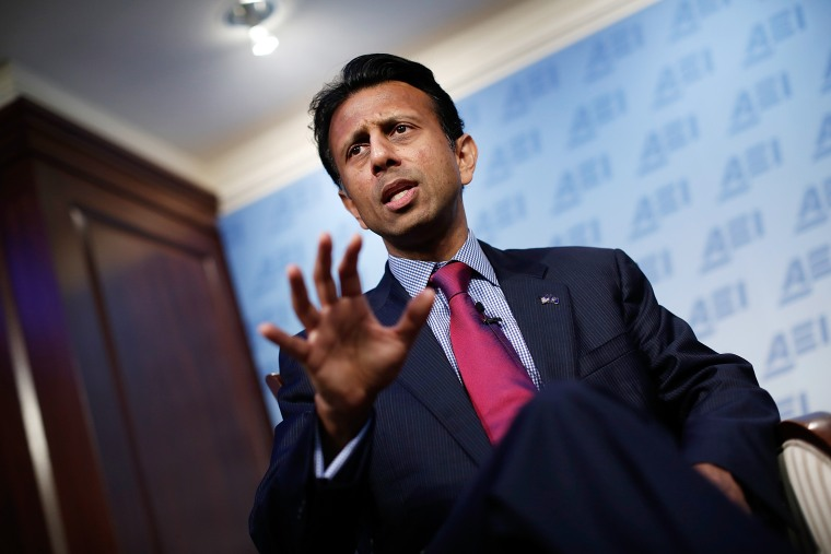 Bobby Jindal speaks at the American Enterprise Institute on Oct. 6, 2014 in Washington, DC. (Photo by Win McNamee/Getty)