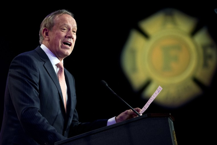 Former New York Gov. George Pataki speaks at the International Association of Firefighters (IAFF) Legislative Conference and Presidential Forum in Washington, D.C., March 10, 2015. (Photo by Pablo Martinez Monsivais/AP)