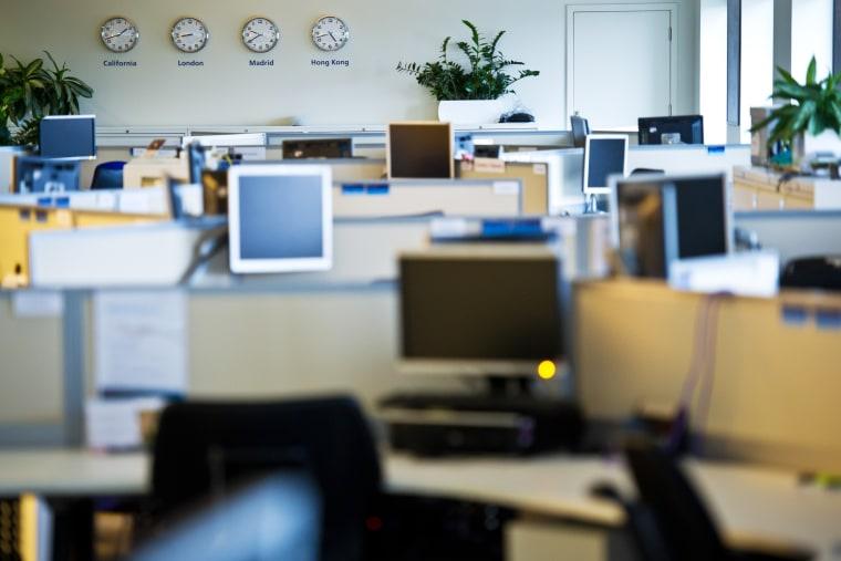 General view of an office on Feb. 8, 2012. (Photo by Ian Gavan/O2/Getty)