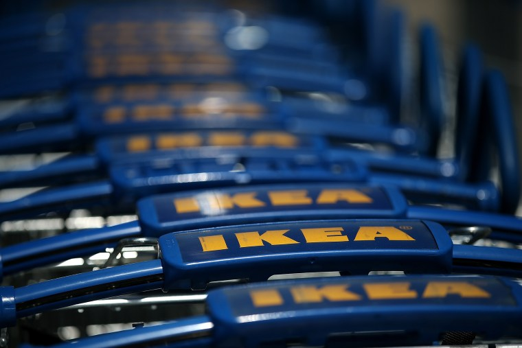 Shopping carts are lined up outside of an IKEA store on June 26, 2014 in Emeryville, California. (Photo by Justin Sullivan/Getty)