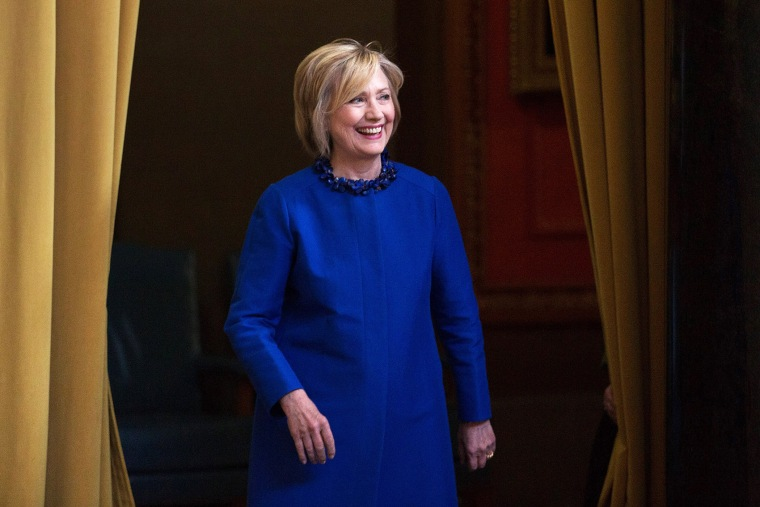 Democratic presidential hopeful and former Secretary of State Hillary Clinton arrives to speak at an event on April 29, 2015 in New York, N.Y. (Photo by Kevin Hagen/Getty)