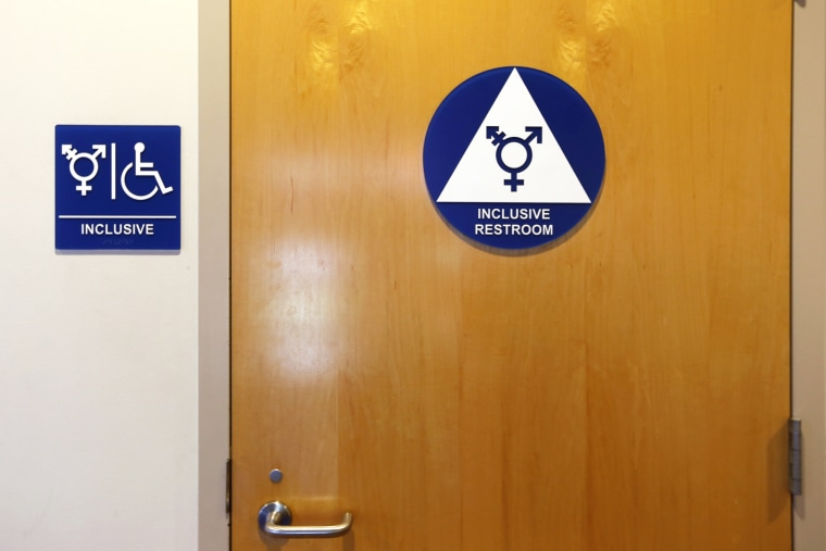 A gender-neutral bathroom is seen at the University of California, Irvine in Irvine, Calif., Sept. 30, 2014. (Photo by Lucy Nicholson/Reuters)