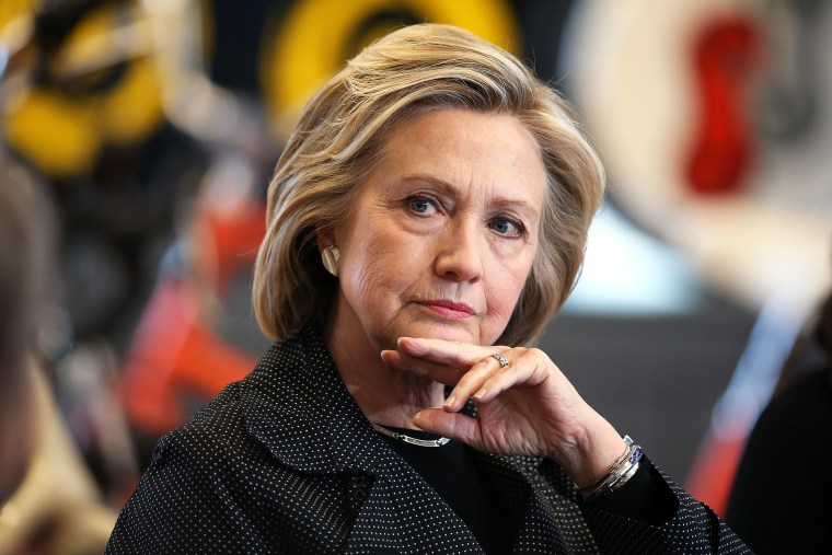 Democratic presidential hopeful and former Secretary of State Hillary Clinton hosts a small business forum with members of the business and lending communities at Bike Tech bicycle shop on May 19, 2015 in Cedar Falls, Iowa. (Photo by Scott Olson/Getty)