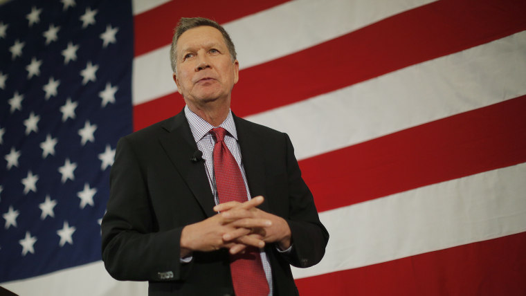 Potential Republican 2016 presidential candidate Ohio Governor John Kasich speaks at the First in the Nation Republican Leadership Conference in Nashua, New Hampshire April 18, 2015. (Photo by Brian Snyder/Reuters)