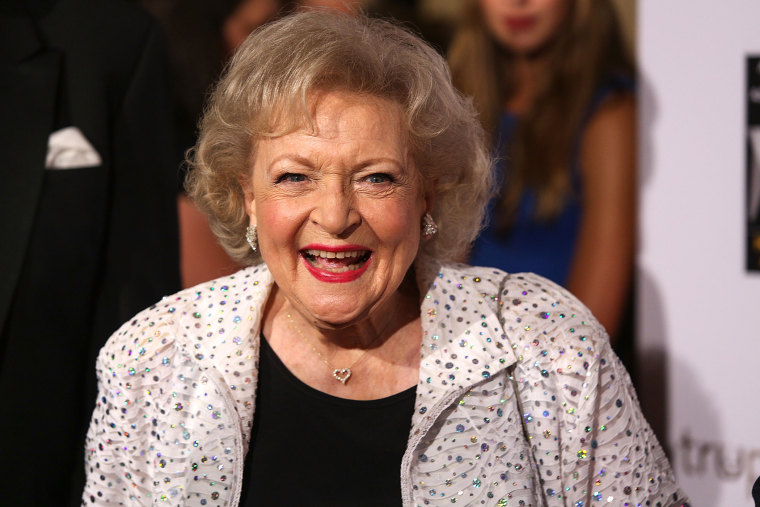 Betty White attends The American Humane Association's Hero Dog Awards held at the Beverly Hilton Hotel on October 6, 2012 in Beverly Hills, Calif. (Photo by Paul A. Hebert/Invision/AP)
