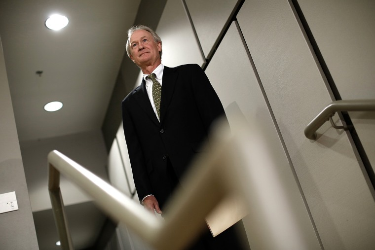 Democratic presidential candidate and former Sen. Lincoln Chafee (D-RI) arrives to announce his candidacy for the U.S. presidency at George Mason University June 3, 2015 in Arlington, Va. (Photo by Win McNamee/Getty)