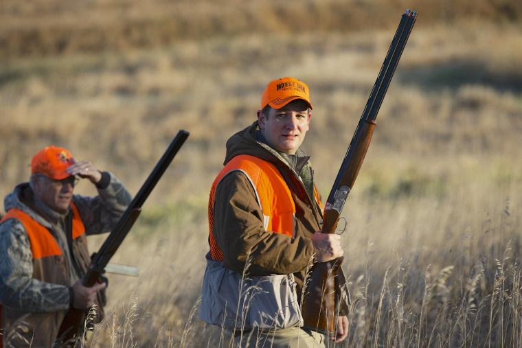 Sen. Ted Cruz at a pheasant hunt in Akron, Iowa on Oct. 26, 2013. (Photo by Nati Harnik/AP)