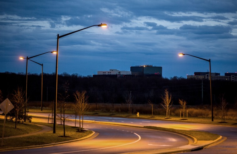 The headquarters of the National Security Administration (NSA) is seen in Fort Meade, Maryland, on Dec 22, 2013. (Photo by Jim Lo Scalzo/EPA)