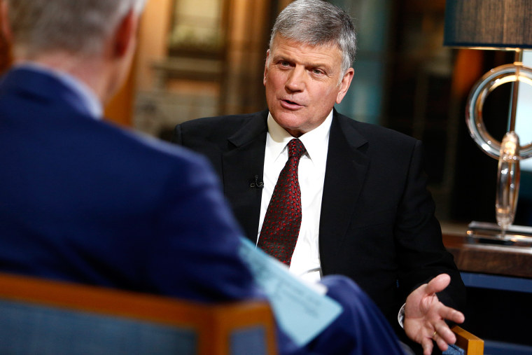 """Franklin Graham appears on NBC News' \""""Today\"""" show. (Photo by Peter Kramer/NBC/Getty)"""
