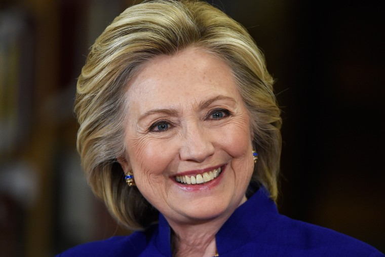 Democratic presidential candidate and former U.S. Secretary of State Hillary Clinton smiles as she speaks at Rancho High School on May 5, 2015 in Las Vegas, Nev. (Photo by Ethan Miller/Getty)