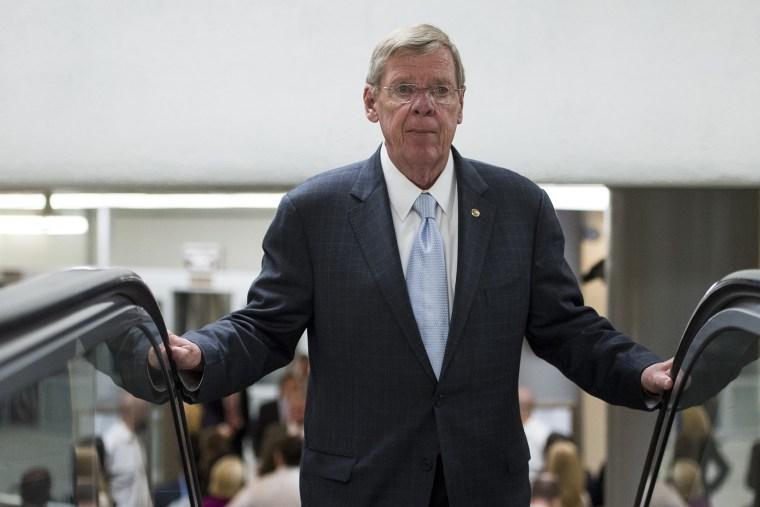 Sen. Johnny Isakson, R-Ga., arrives in the Capitol for a vote on Tuesday, Sept. 24, 2013. (Photo By Bill Clark/CQ Roll Call/Getty)