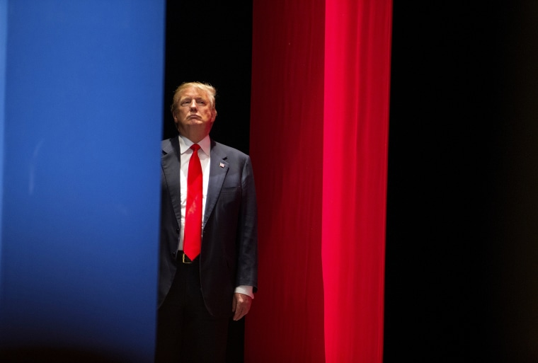 Real estate developer Donald Trump prepares to go on stage to speak during the Freedom Summit in Greenville, S.C., May 9, 2015. (Photo by Chris Keane/Reuters)