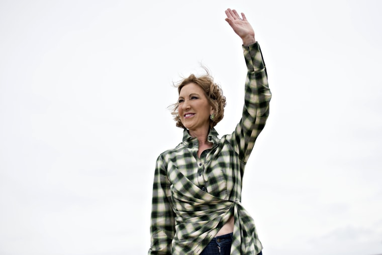 Carly Fiorina, former chairman and chief executive officer of Hewlett-Packard Co. and 2016 U.S. presidential candidate, speaks during the inaugural Roast and Ride in Boone, June 6, 2015. (Photo by Daniel Acker/Bloomberg/Getty)