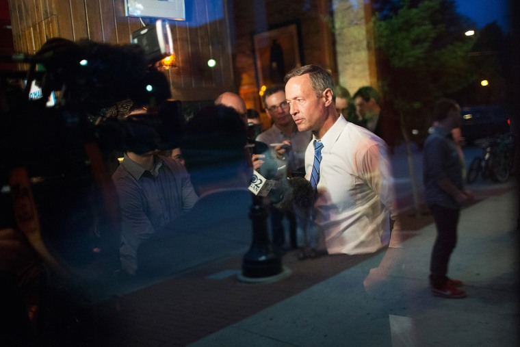 Democratic presidential hopeful and former Maryland Gov. Martin O'Malley speaks to the media following a campaign event at the Sanctuary Pub on June 11, 2015 in Iowa City, Iowa. (Photo by Scott Olson/Getty)