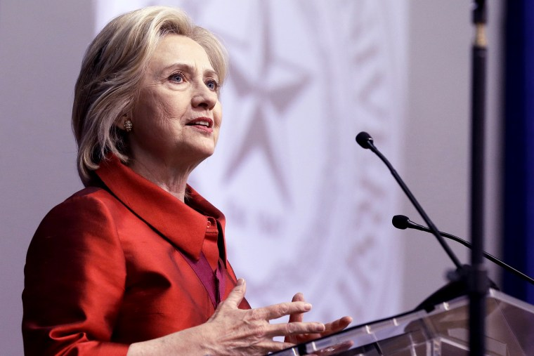 Hillary Rodham Clinton delivers a speech at Texas Southern University in Houston, June 4, 2015. (Photo by Pat Sullivan/AP)