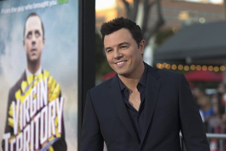 "Director and cast member Seth MacFarlane poses at the premiere of ""A Million Ways to Die in the West"" in Los Angeles, Calif. on May 15, 2014. (Photo by Mario Anzuoni/Reuters)"