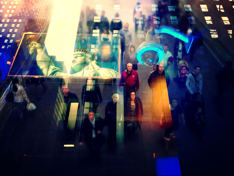 People walk at Grand Central Terminal, New York, NY. (Photo Illustration by Justin Maxon for MSNBC)
