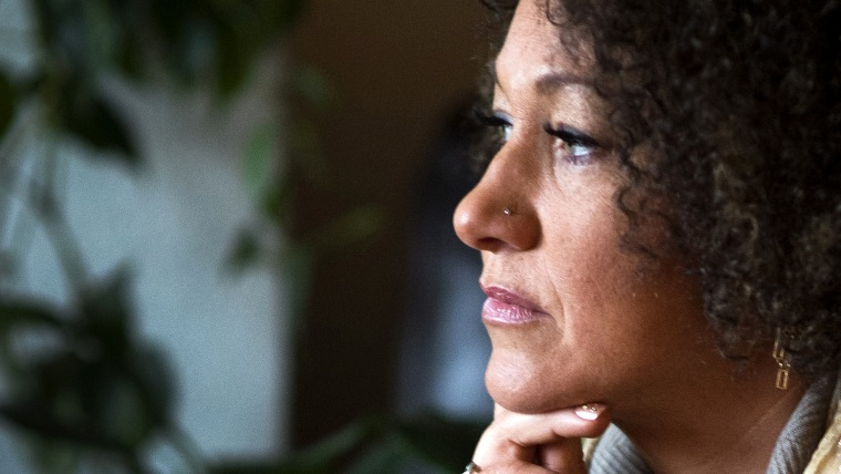 Rachel Dolezal, president of the Spokane chapter of the NAACP, poses for a photo in her Spokane, Wash. home, March 2, 2015. (Photo by Colin Mulvany/The Spokesman-Review/AP)
