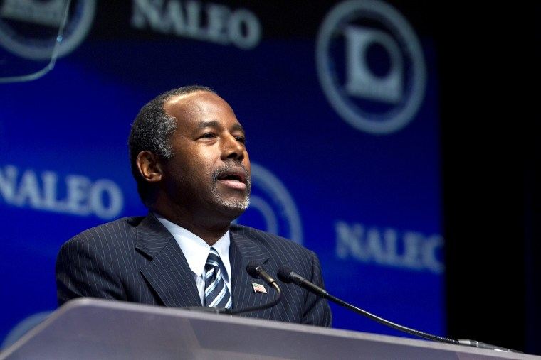 Republican presidential candidate Ben Carson speaks at the National Association of Latino Elected and Appointed Officials (NALEO) convention in Las Vegas, Nev., June 17, 2015. (Photo by Steve Marcus/Reuters)