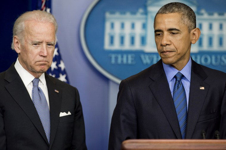 President Barack Obama speaks alongside Vice President Joe Biden about the shooting deaths of nine people at a historic black church in Charleston, S.C., at the White House, June 18, 2015. (Photo by Saul Loeb/AFP/Getty)