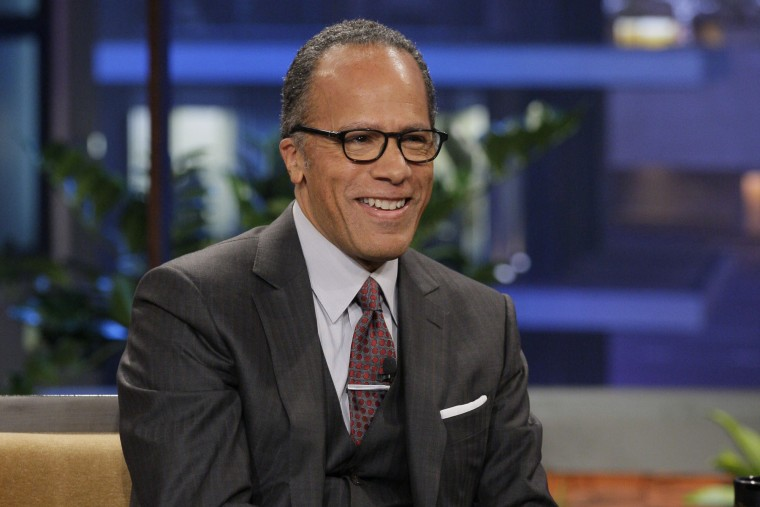 News anchor Lester Holt during an interview on the Tonight Show with Jay Leno, on Feb. 13, 2013. (Photo by Paul Drinkwater/NBC/NBCU Photo Bank/Getty)