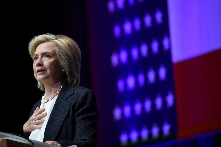 Hillary Clinton Addresses Nat'l Ass'n Of Latino Elected And Appointed Officials. (Photo by Ethan Miller/Getty)