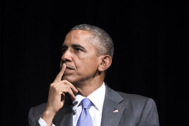 President Barack Obama attends an event at the Warner Theatre in Washington, D.C., June 17, 2015. (Photo by Saul Loeb/AFP/Getty)