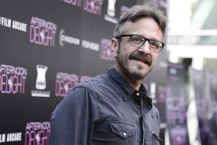 "Actor and comedian Marc Maron arrives at the Los Angeles premiere screening of the feature film ""Afternoon Delight"" at the ArcLight Hollywood on Aug. 19, 2013 in Los Angeles, Calif. (Photo by Dan Steinberg/Invision/AP)"