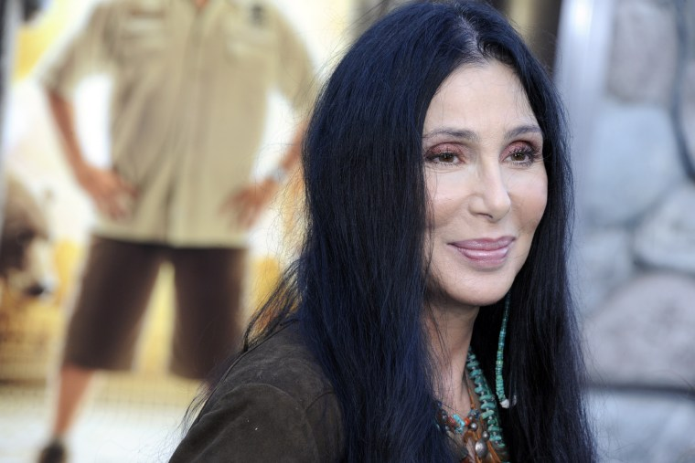 Cher arrives for the world premiere of 'Zookeeper' in Los Angeles, Calif. on July, 6 2011. (Photo by Paul Buck/EPA)