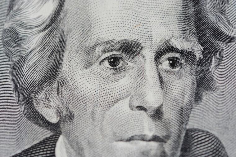A close-up of Andrew Jackson on a $20 bill. (Photo by Alex Milan Tracy/Sipa/AP)