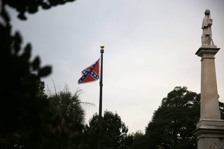 The Confederate flag flies on the Capitol grounds on June 22, 2015 in Columbia, S.C. (Photo by Joe Raedle/Getty)