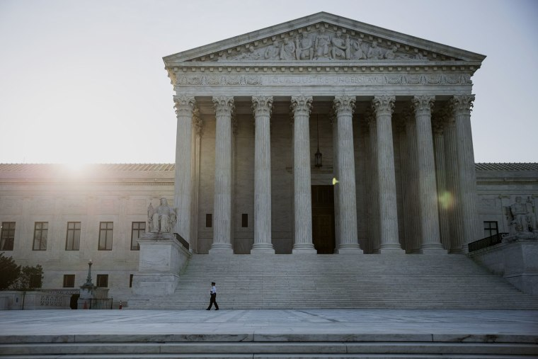 The U.S. Supreme Court stands in Washington, D.C., June 22, 2015. (Photo by Drew Angerer/Bloomberg/Getty)