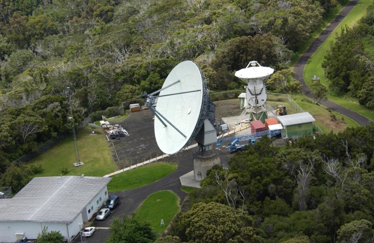 With this antenna at Kokee Park on the Hawaiian island of Kauai, NASA makes regular VLBI (Very Long Baseline Interferometry) measurements that are used in the time standard called UT1 (Universal Time 1).
