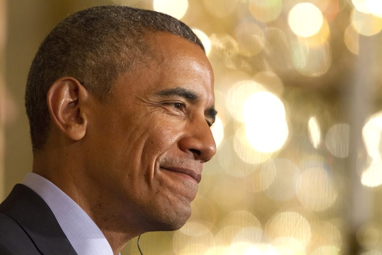 President Barack Obama smiles during a joint news conference in the East Room of the White House in Washington, D.C., June 30, 2015. (Photo by Jacquelyn Martin/AP)