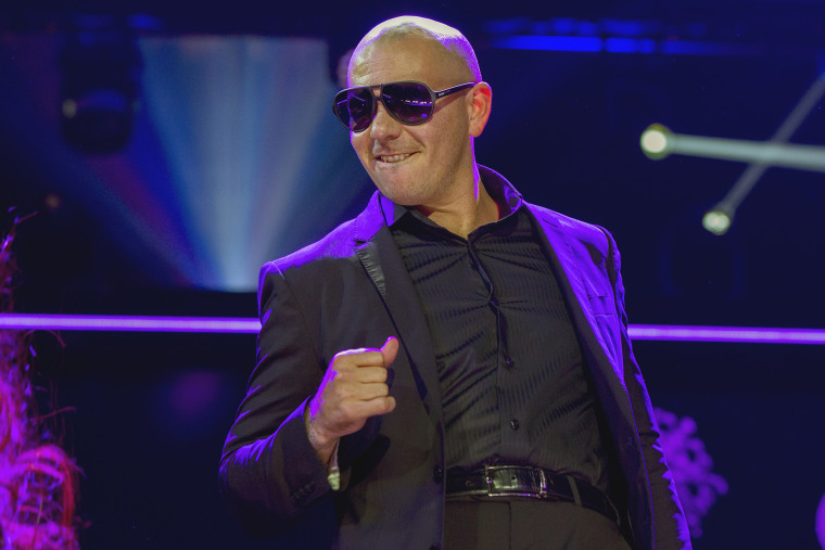 Singer Pitbull performs during the 2013 Z100 Jingle Ball in New York, Dec. 13, 2013. (Photo by Lucas Jackson/Reuters)