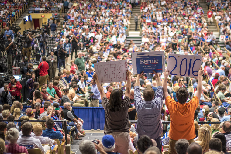 Democratic Presidential Candidate Bernie Sanders Campaign Rally