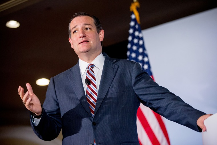 Republican presidential candidate, Sen. Ted Cruz, speaks during the Road to Majority 2015 convention in Washington on June 18, 2015. (Photo by Andrew Harnik/AP)