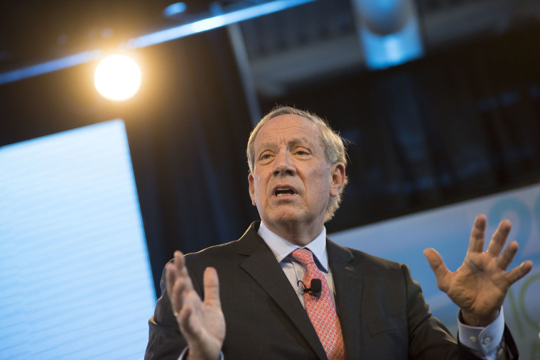 George Pataki, former Governor of New York, speaks during the Iowa Ag Summit at the Iowa State Fairgrounds in Des Moines, Iowa on March 7, 2015. (Photo by Daniel Acker/Bloomberg/Getty)
