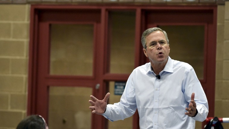 Bush speaks at a town hall meeting in Henderson, Nevada
