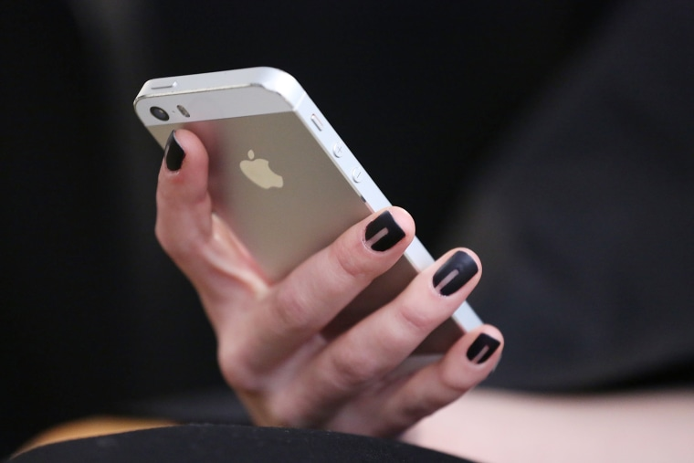 An iPhone. (Photo by Mireya Acierto/Getty)