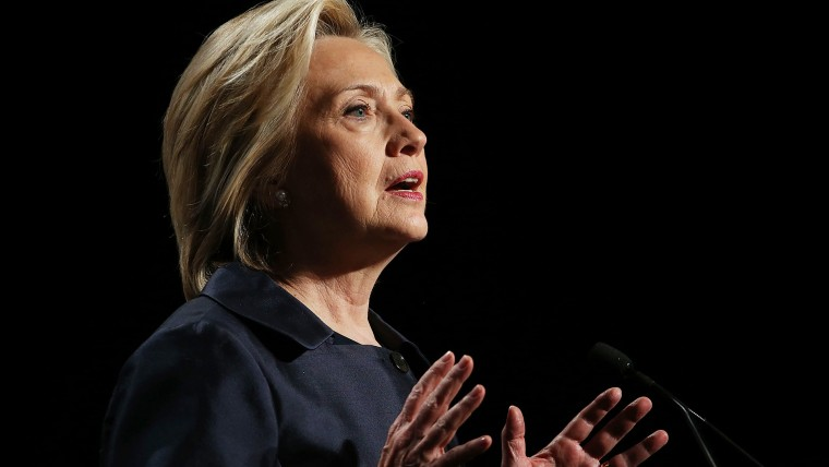 Democratic presidential candidate and former U.S. Secretary of State Hillary Clinton speaks during the 2015 United States Conference of Mayors on June 20, 2015 in San Francisco, Calif. (Photo by Justin Sullivan/Getty)