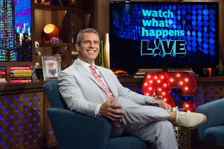 Andy Cohen on his show Watch What Happens Live (Photo by Charles Sykes/Bravo/NBCU/Getty).