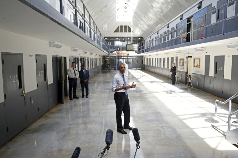 President Barack Obama speaks during his visit to the El Reno Federal Correctional Institution outside Oklahoma City July 16, 2015. (Photo Kevin Lamarque/Reuters)